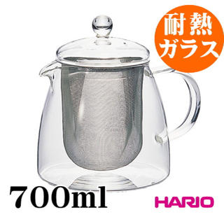 HARIO - 無料)リーフティーポット ピュア700ml 耐熱ガラス ハリオ