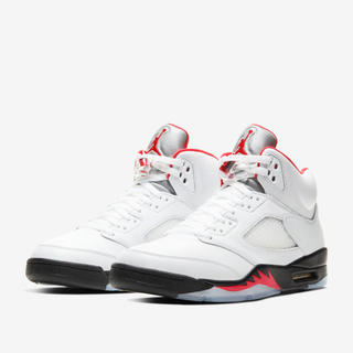 ナイキ(NIKE)のAIR JORDAN 5 RETRO FIRE RED 27.0(スニーカー)