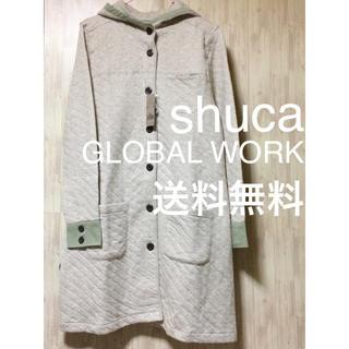 シュカグローバルワーク(shuca GLOBALWORK)のshuca GLOBAL WORKキルティングコート新品未使用タグ付き Mサイズ(ロングコート)