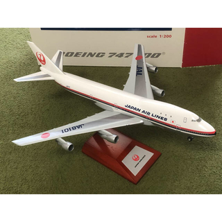 ジャル(ニホンコウクウ)(JAL(日本航空))のJAL 747-100 hogan wings 200分の1模型 (模型/プラモデル)