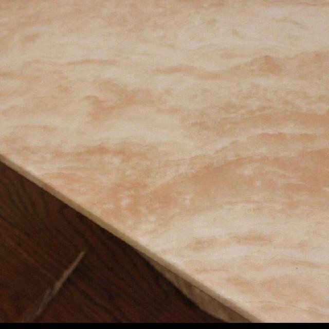 大理石 テーブル 120cm ベージュ センターテーブル リビングテーブル 楕円 インテリア/住まい/日用品の机/テーブル(ローテーブル)の商品写真