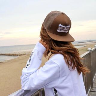 スタンダードカリフォルニア(STANDARD CALIFORNIA)のインスタで人気☆LUSSO SURF ボックスロゴ刺繍キャップ☆帽子(キャップ)