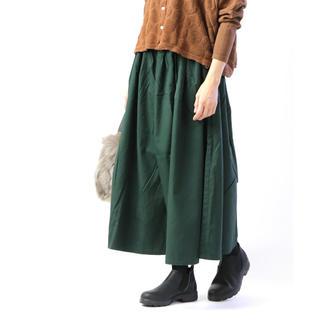 ヤエカ(YAECA)の可愛いです●グリンgrin コットン ソフトオックスワイドパンツ スカート (カジュアルパンツ)