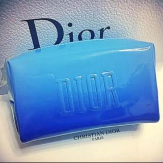 Christian Dior - ★週末限定★ディオール 限定 ポーチ ノベルティ ブルー エナメル 箱付き 新品