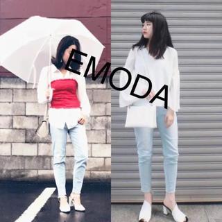 EMODA - エモダ ジャストフィット テーパード ジーンズ