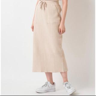 カスタネ(Kastane)のkastane リブスカート(ひざ丈スカート)