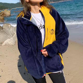 ザノースフェイス(THE NORTH FACE)のアメカジコーデ☆LUSSO SURF フリースジャケット M☆RVCA(パーカー)