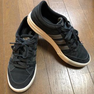 アディダス(adidas)のアディダス スニーカー 黒 24.5cm(スニーカー)