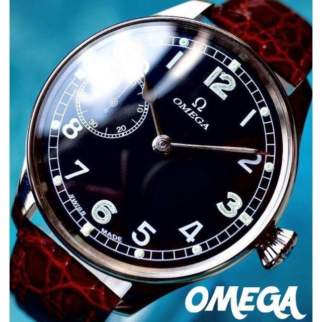 ロレックス スーパー コピー 北海道 - OMEGA - ◆オメガ◆ OH済/レア/ミリタリー/パイロット/アンティーク/腕時計/手巻の通販