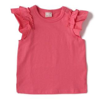 petit main - 新品 プティマイン 袖フリルTシャツ