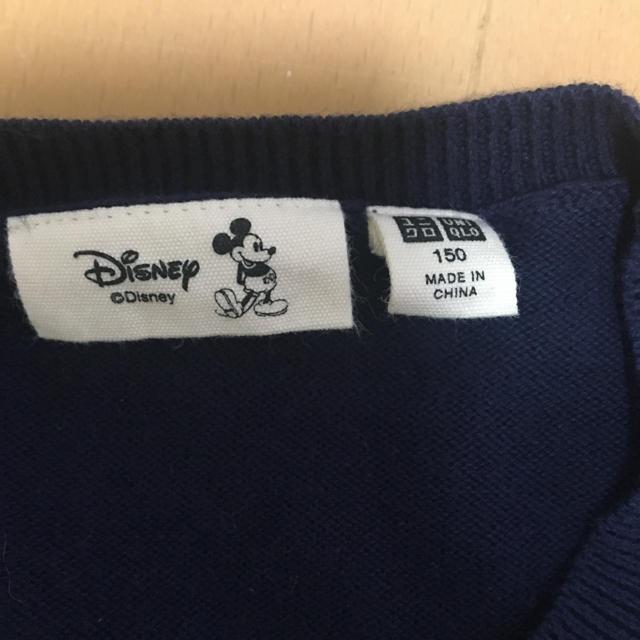 UNIQLO(ユニクロ)のミッキーマウス セーター 150 ネイビー   キッズ/ベビー/マタニティのキッズ服男の子用(90cm~)(ニット)の商品写真