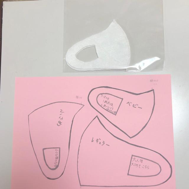 立体マスク型紙 ベビー用確認ページの通販