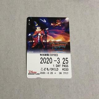 ディズニー(Disney)のディズニー ファンタズミック フリー切符(3月25日)(鉄道乗車券)