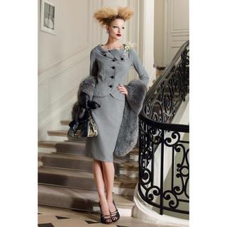 Christian Dior - 極美品 クリスチャン ディオール 女優襟 千鳥格子 スーツ セットアップ