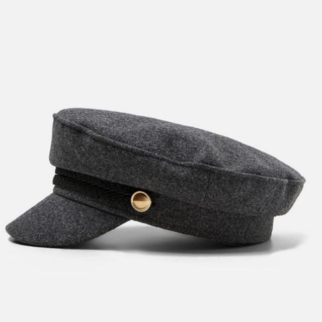 ZARA(ザラ)のZARA ボタン付きマリンキャップ レディースの帽子(キャスケット)の商品写真