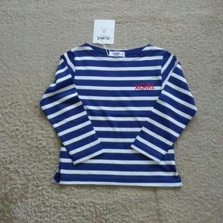 エックスガールステージス(X-girl Stages)の未使用タグ付き⭐エックスガール ボーダーTシャツ 110(Tシャツ/カットソー)