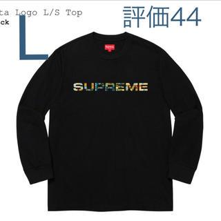 Supreme - Supreme Meta Logo L/S Top BLACK Lサイズ