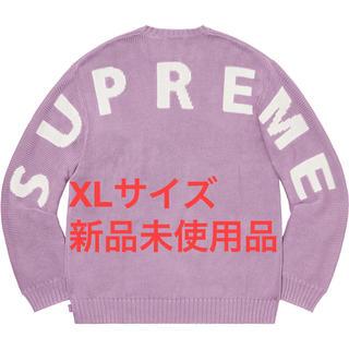 シュプリーム(Supreme)のSupreme Back Logo Sweater Lilac Pink XL(ニット/セーター)