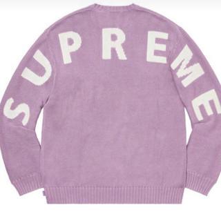 シュプリーム(Supreme)のM ピンク supreme back logo sweater シュプリーム(ニット/セーター)