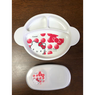 combi - 新品未使用 コンビcombi 離乳食セット容器 キティちゃん オマケ付き