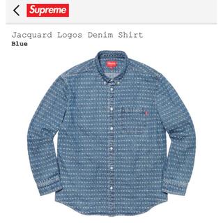シュプリーム(Supreme)のLサイズ Supreme Jacquard Logos Denim Shirt(シャツ)