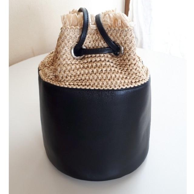 DEUXIEME CLASSE(ドゥーズィエムクラス)のYONFA ラフィア バッグ 黒 レディースのバッグ(ショルダーバッグ)の商品写真