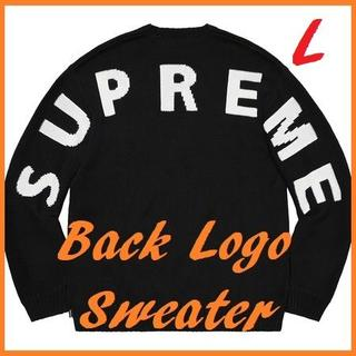 Supreme - L Supreme Back Logo Sweater 黒 国内正規品 ①