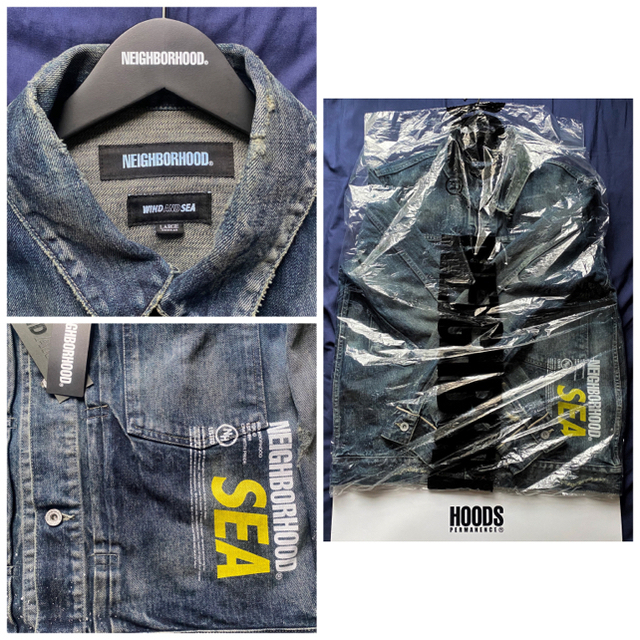 NEIGHBORHOOD(ネイバーフッド)のL 新品 NEIGHBORHOOD WIND AND SEA デニムジャケット メンズのジャケット/アウター(Gジャン/デニムジャケット)の商品写真