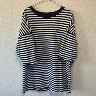 トゥエンティーフォーカラッツ(24karats)のSEVEN Tシャツ ボーダー 三代目着用 ビックシルエットT(Tシャツ/カットソー(半袖/袖なし))