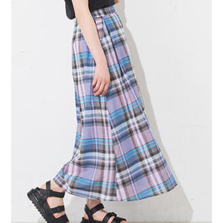 ナイスクラップ(NICE CLAUP)のチェックフレアスカート(ロングスカート)