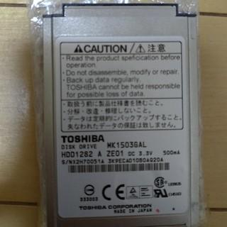 トウシバ(東芝)のMK1503GAL 1.8インチHDD ハードディスク(PC周辺機器)