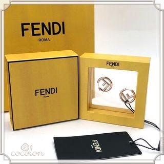 フェンディ(FENDI)の新品 FENDI エフ イズ フェンディ イヤリング/ピアス ローズゴールド(ピアス)