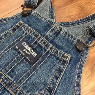 オシュコシュ(OshKosh)のOSHKOSH オーバーオール、チェックシャツ2点セット(パンツ)