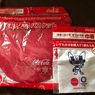 コカコーラ(コカ・コーラ)のコカコーラ 巾着 バスケット セット(ノベルティグッズ)