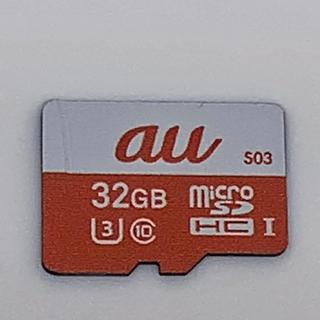 エーユー(au)のau 純正 micro SDカード 32GB マイクロエスディーカード(PC周辺機器)