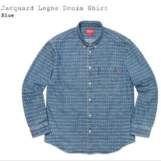 Supreme - Jacquard Logos Denim Shirt   L
