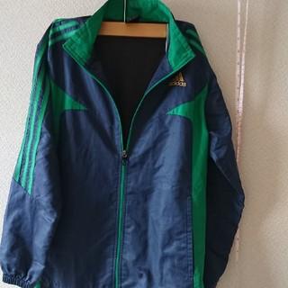 adidas - adidasシャカシャカジャンパー150cm紺と緑