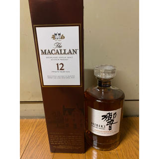 サントリー(サントリー)のウイスキー 響 マッカラン12年 二本セット(ウイスキー)