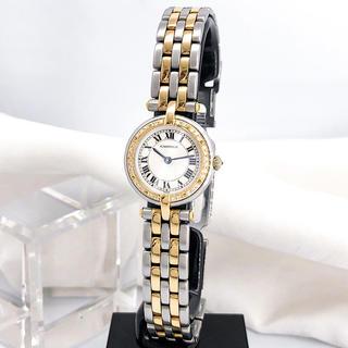 Cartier - 【OH済/保証書付】カルティエ パンテール ラウンド ダイヤ レディース 時計
