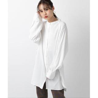 mystic - BACKリボンロングシャツ