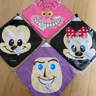 Disney - 【4枚セット】ループ付タオル ひも付きタオル おてふきタオル