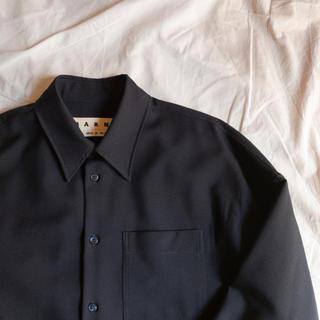 Marni - MARNI 19SS Tropical Wool Boxy Shirt