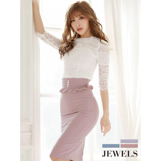 ジュエルズ(JEWELS)の2ピースの袖ありドレス(ミディアムドレス)
