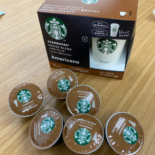 Starbucks Coffee(スターバックスコーヒー)のネスカフェ ドルチェグスト専用カプセル 食品/飲料/酒の飲料(コーヒー)の商品写真