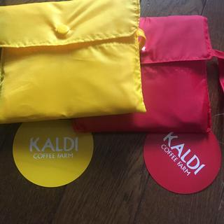 KALDI - カルディオリジナルエコバッグ レッド、イエロー