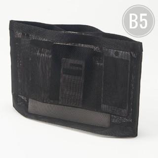 ムジルシリョウヒン(MUJI (無印良品))の無印良品 ナイロン メッシュ バッグ イン バッグ  B5 黒 (バッグ)