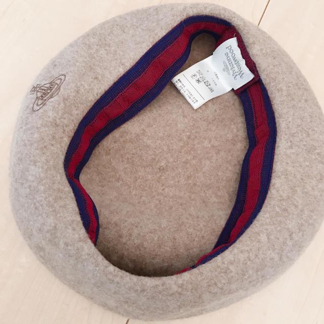 Vivienne Westwood(ヴィヴィアンウエストウッド)のヴィヴィアンウエストウッド ベレー帽 ベージュ レディースの帽子(ハンチング/ベレー帽)の商品写真