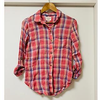 アメリカンイーグル(American Eagle)のアメリカンイーグル☆ピンク チェックシャツ XS(シャツ/ブラウス(長袖/七分))