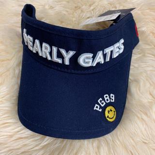 PEARLY GATES - パーリーゲイツ  ニコちゃんゴルフサンバイザー帽子