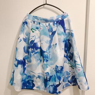 プラステ(PLST)のPLST(プラステ) 花柄スカート(ひざ丈スカート)
